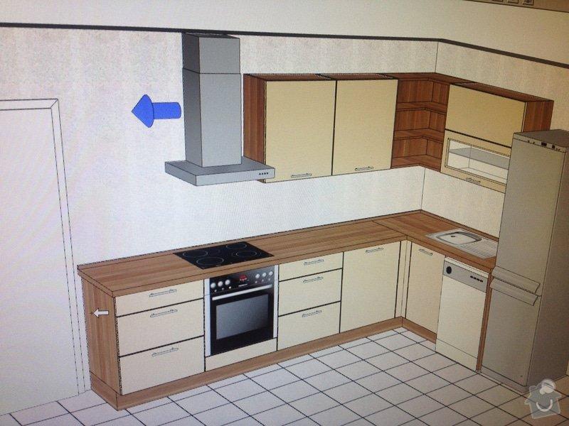 Kuchyň, rohová do tvaru L, 1,7 x 3 m, Dolní Jirčany : IMG_1715