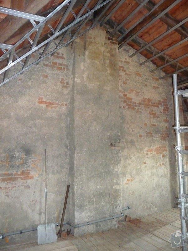 Vyvložkování a dostavba komínu anebo vybudovat nový plechový komín zezadu na štítě na : komin