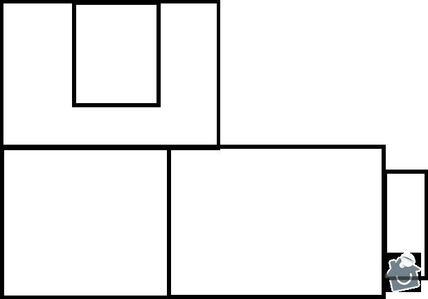 Rekonstrukce bytu 2+1: puvodni