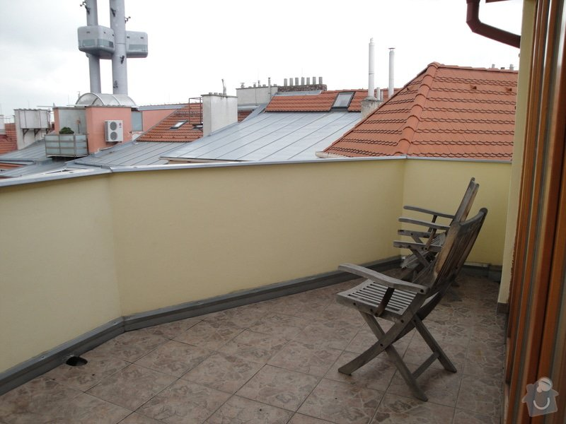 Zimni zahrada z terasy na dome Praha: DSC03812