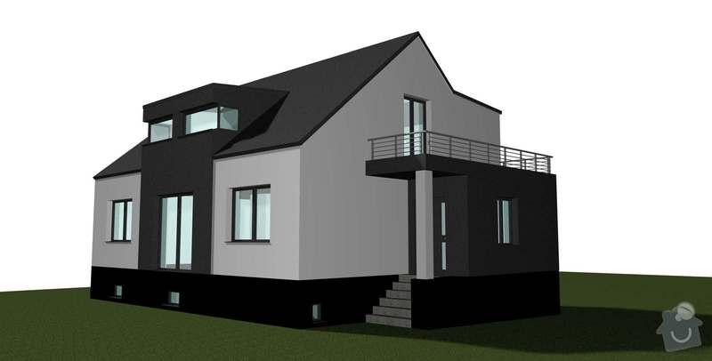 Rekonstrukce střechy 120 m2: RD_Bechovice_vikyr_uprostred_2