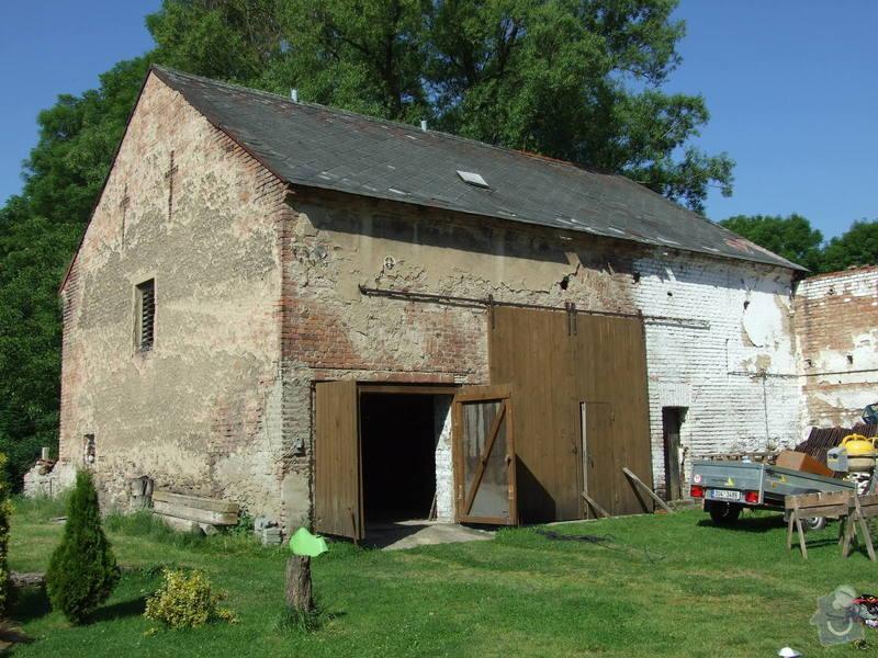 Demontáž střechy stodoly : Sobechlebska_001