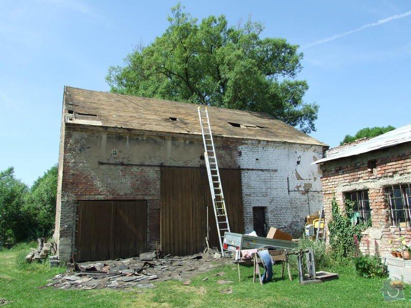 Demontáž střechy stodoly : Sobechlebska_004