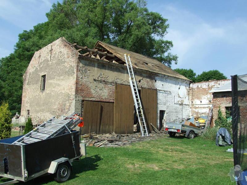 Demontáž střechy stodoly : Sobechlebska_010