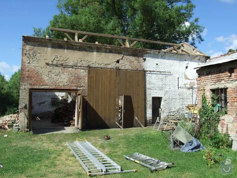 Demontáž střechy stodoly : Sobechlebska_022