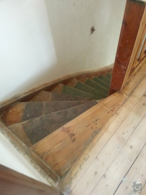 Renovace dřevěných schodů: 20140614_154151