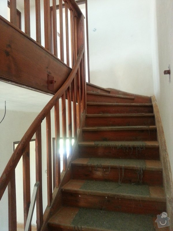 Renovace dřevěných schodů: 20140614_154217