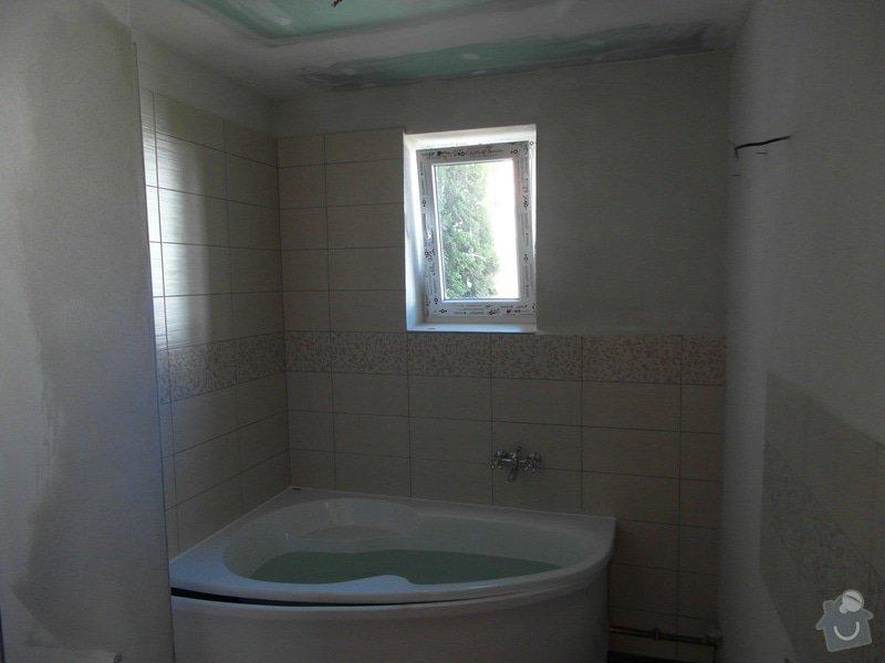 Obklad a položení dlažby v koupelně;omítky: SAM_1429