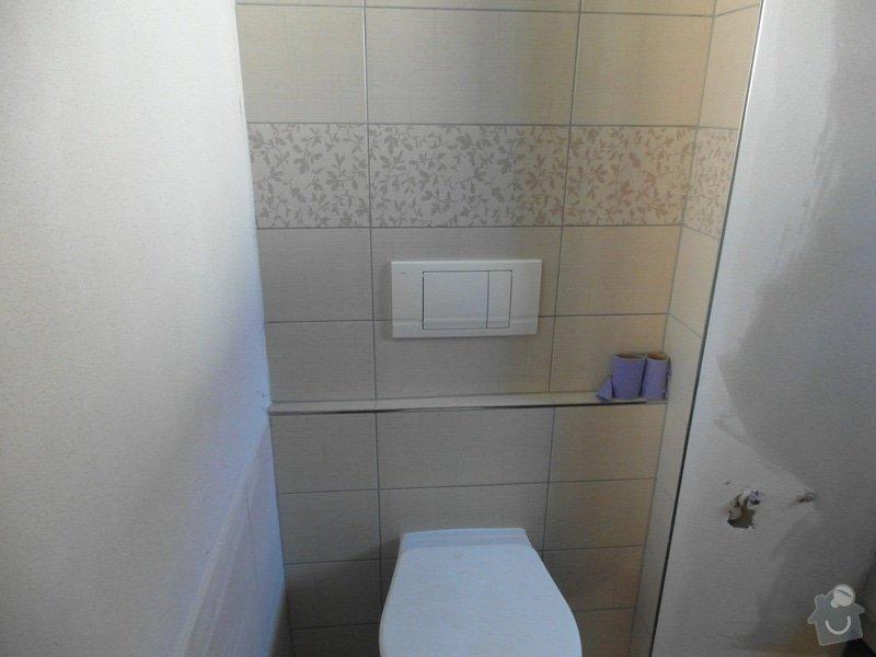 Obklad a položení dlažby v koupelně;omítky: SAM_1430