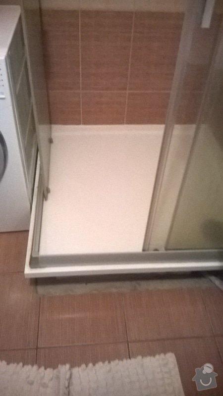 Oprava sprchového koutu - protéká, obložení: WP_20140615_001