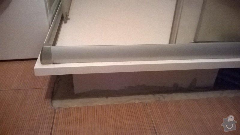 Oprava sprchového koutu - protéká, obložení: WP_20140615_007