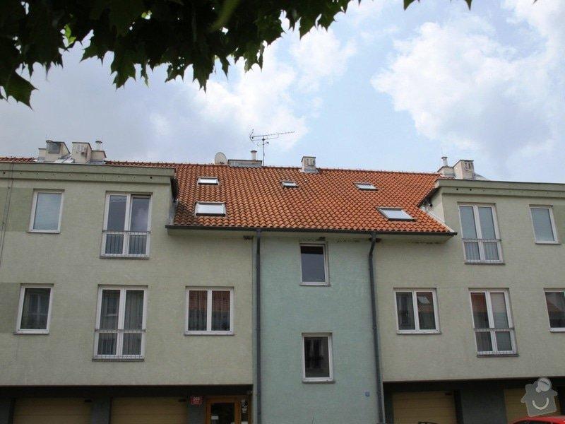Kontrola/Oprava komínků na střeše bytového domu: kominek