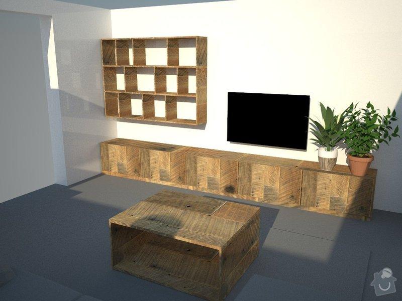 Knihovnu, konferencni stolek a skrinku pod televizor: skrina_3