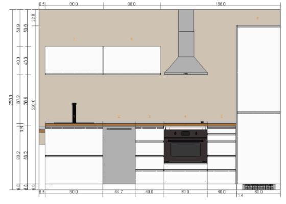 Elektropříprava, doprava a montáž kuchyňské linky IKEA