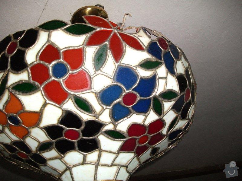 Oprava vitrážového lustru: DSCF1024