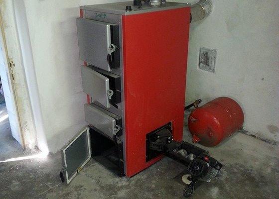 Automatický kotel 25 kw + montáž