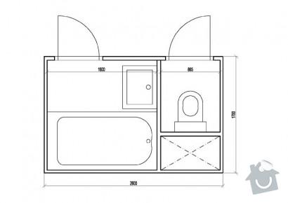 Rekonstrukci koupelny v paneláku: koupelna