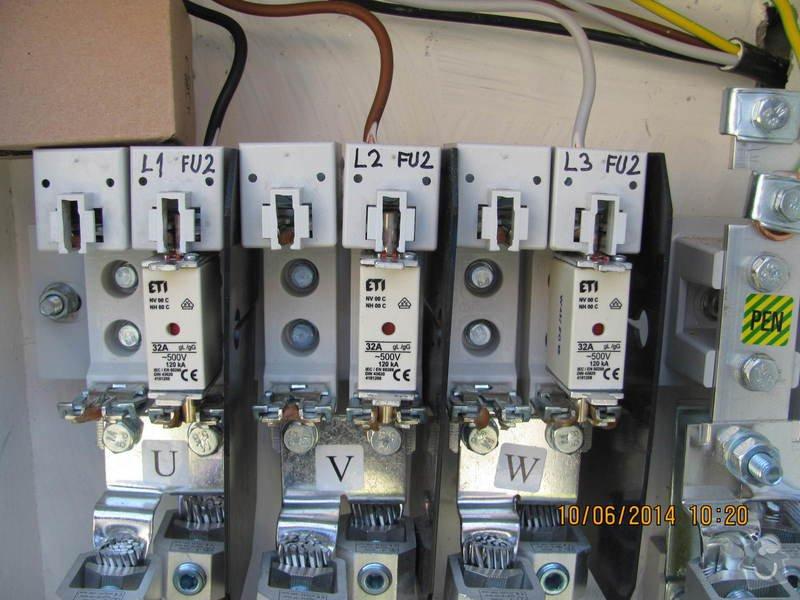 Zapojení el. rozvaděče pro elektroměr +revize: 091