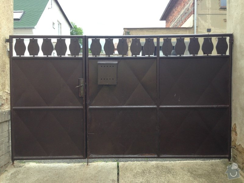 Vchodová brána se zinkovou povrchovou úpravou: IMG_2581