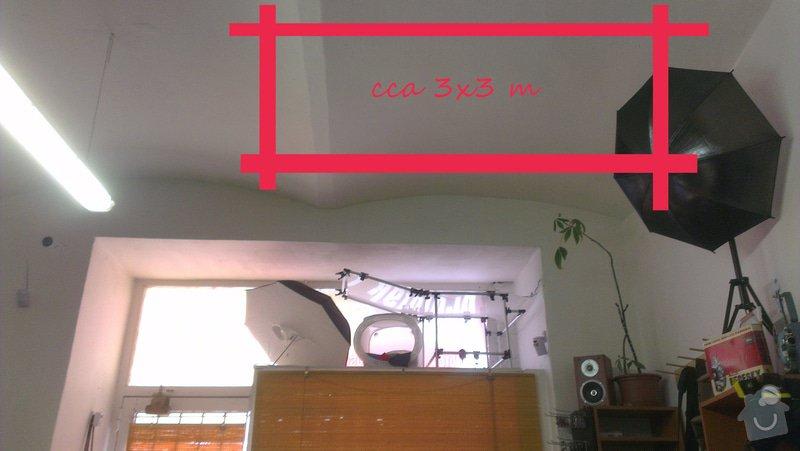 Instalace stropní konzole pro závěsná světla: IMAG3358