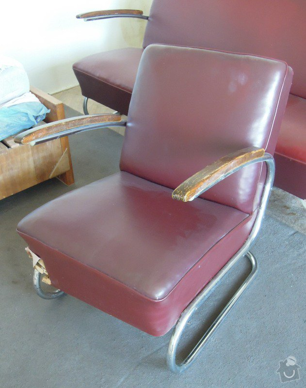 Přečalounění sedací soupravy: kreslo01