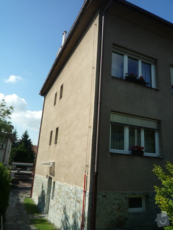 Zateplení obvodových zdí budovy: P1080512