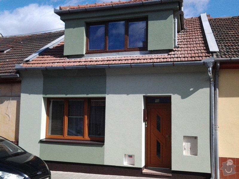 Zateplení  fasády  rodinného domku polystyrenem: 20140620_093240