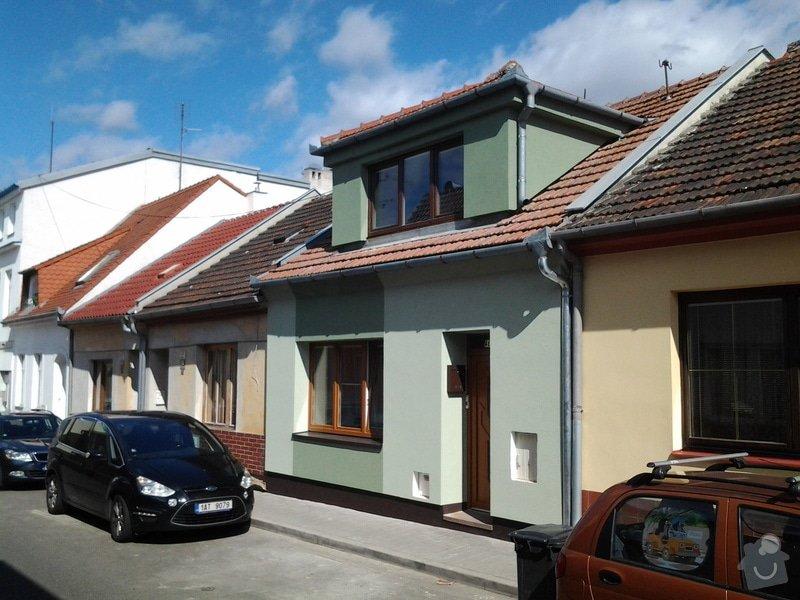 Zateplení  fasády  rodinného domku polystyrenem: 20140620_093258