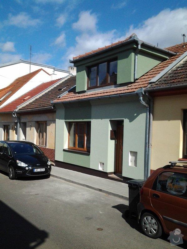 Zateplení  fasády  rodinného domku polystyrenem: 20140620_093306