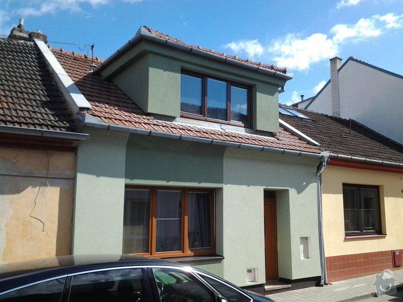 Zateplení  fasády  rodinného domku polystyrenem: 20140620_093336