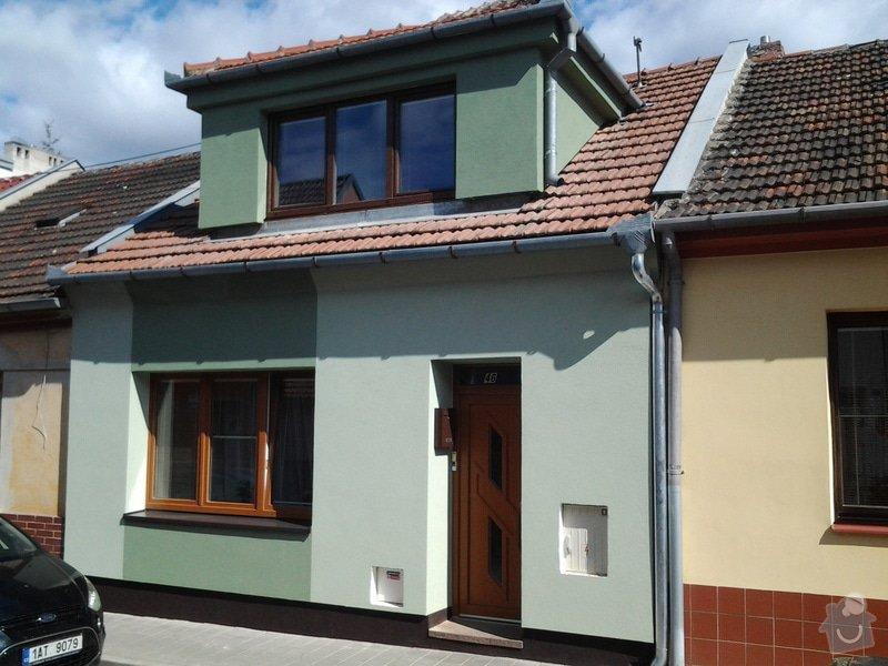 Zateplení  fasády  rodinného domku polystyrenem: 20140620_093356