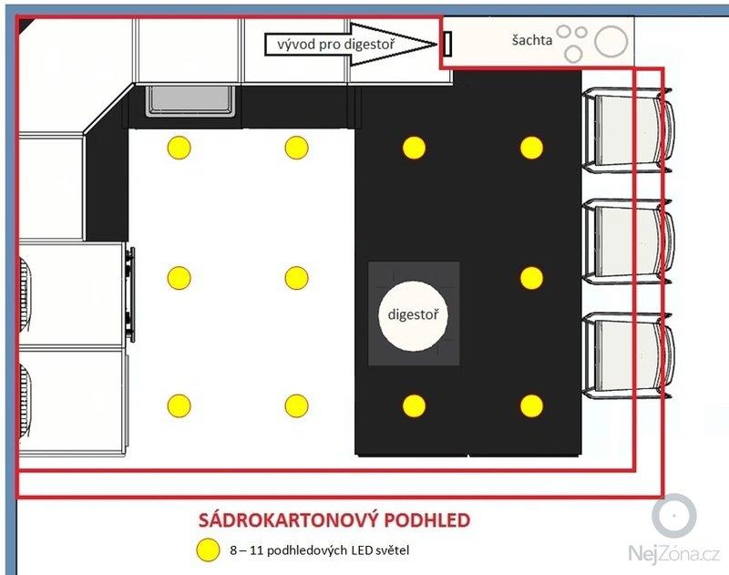Sádrokartonový podhled kuchyňský kout: sadrokarton01