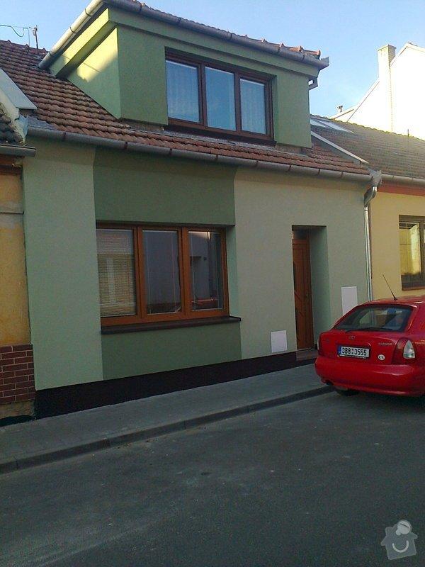 Zateplení  fasády  rodinného domku polystyrenem: Fotografie0033