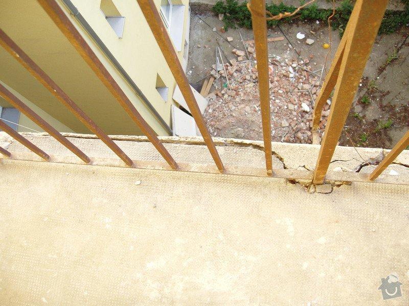 Renovace železobetonových pavlačí (4 patra po ca 7 m): P1010041