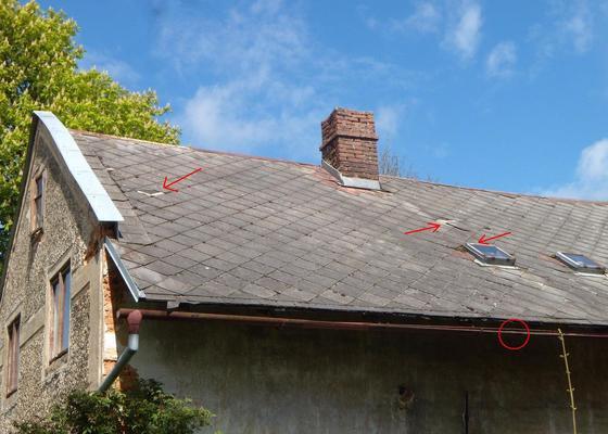 Menší oprava střešní krytiny a okapu