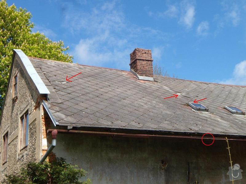 Menší oprava střešní krytiny a okapu: DSCN5684