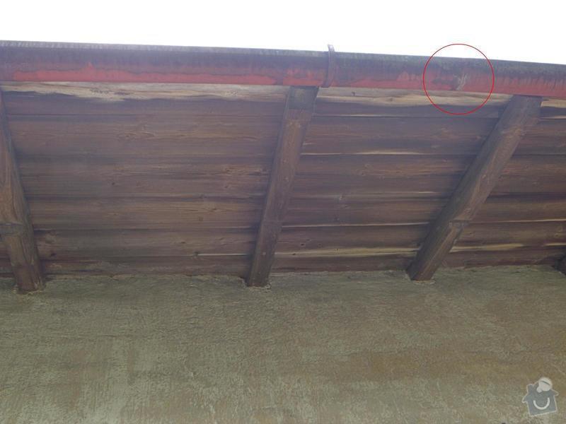 Menší oprava střešní krytiny a okapu: DSCN5723