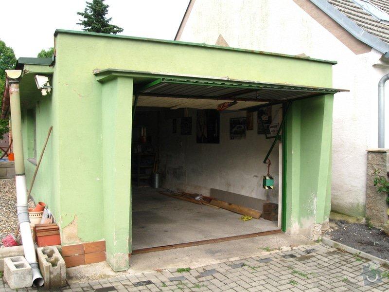 Vybourání starých garážových vrat + příprava pro sekční vrata: IMG_5576
