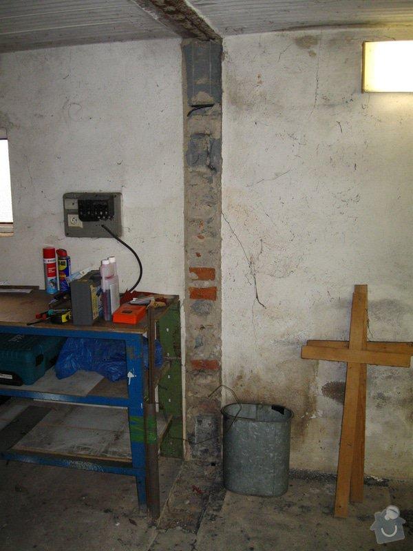Vybourání starých garážových vrat + příprava pro sekční vrata: IMG_5578