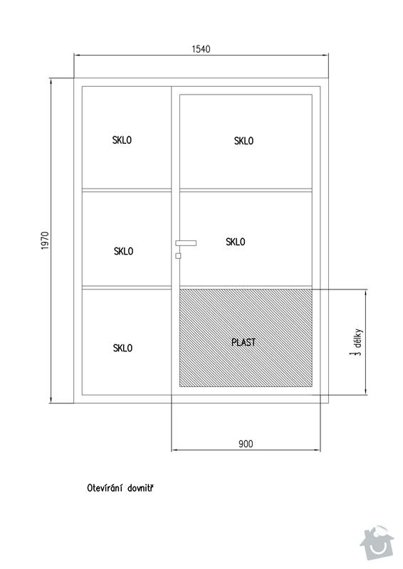 Výroba a montáž plastových dveří + interiérových dveří: 806105003