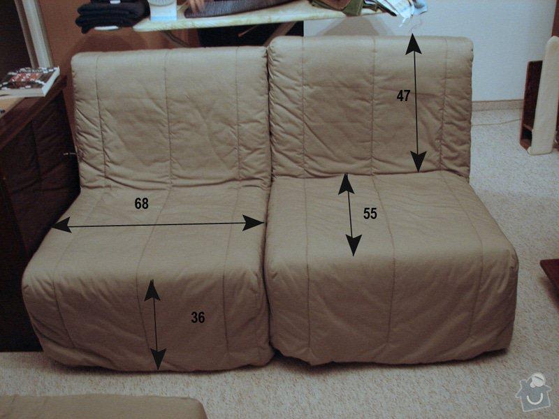 Atypický potah - čalounění sedačky a křesel: kresla