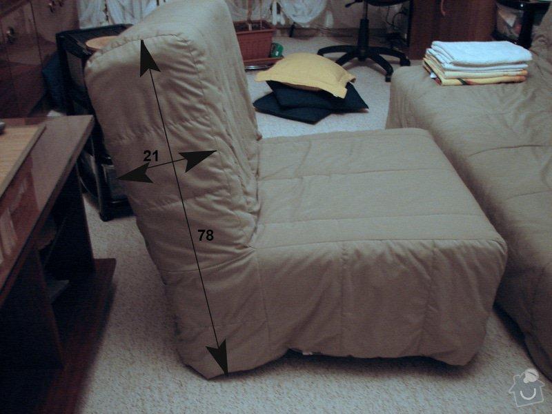 Atypický potah - čalounění sedačky a křesel: kreslo_bok
