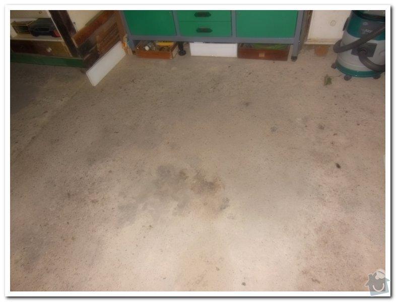 Oprava betové podlahy v garáži: 012