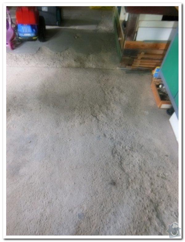 Oprava betové podlahy v garáži: 016