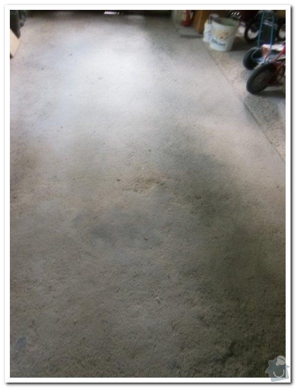 Oprava betové podlahy v garáži: 017