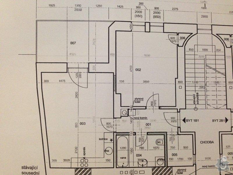 Dodání a instalace systému podlahového teplovodního vytápění, vodovodního a odpadového potrubí v bytě 58m2: byt_pudorys