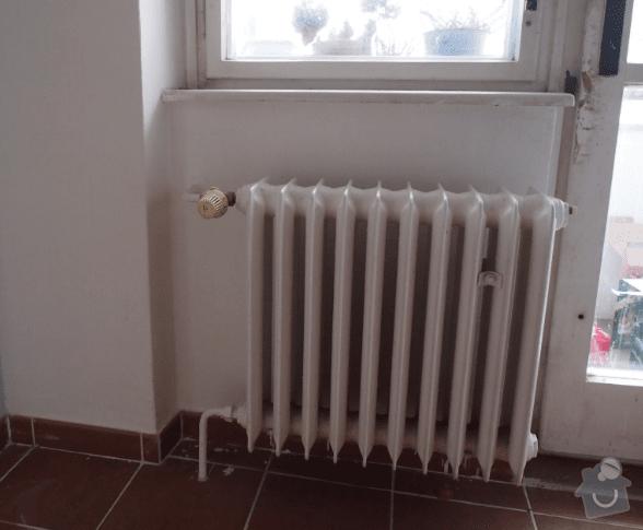 Odstranění radiátoru + výměna parapetu: Topeni