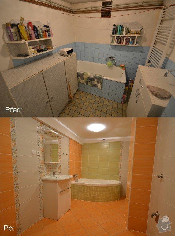 Kompletní rekonstrukce koupelny a Wc v rodinném domku.: Kralovi