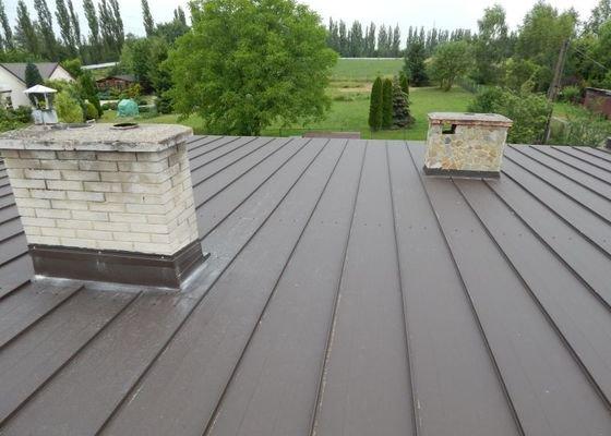 Oprava skoro rovné střechy