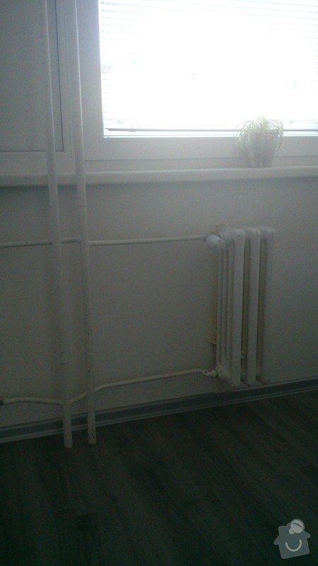 Výměna radiátoru v bytě.: odstraneni
